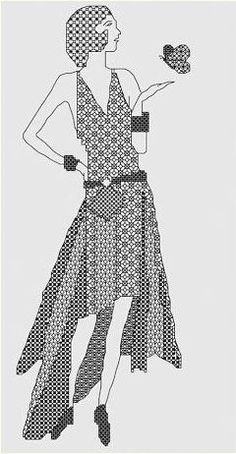 Black Work woman 1920's.