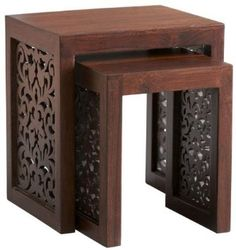 Amazon.com: Maharaja Nesting Tables, NESTING TBLS/2, WALNUT: Furniture & Decor