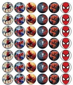 3cm Spiderman Fairy Cup Cake Toppers Edible Rice Wafer Paper EBay cakepins.com