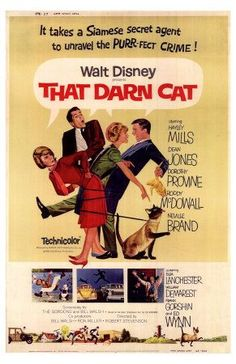 That Darn Cat - saw this when I was a kid and it was so funny then, I am afraid to watch it again just in case it's not!