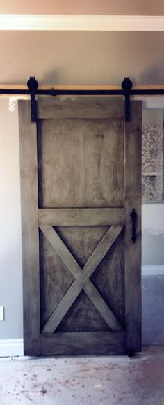 Barn doors today are becoming part of interior decoration in many houses because they are stylish. When building a barn door on your own, barn door hardware kit Shed Doors, Room Doors, Entry Doors, House Doors, Barn Style Doors, Inside Barn Doors, Glass French Doors, Sliding Barn Door Hardware, Sliding Doors