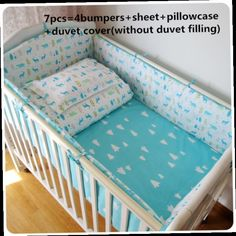 42.80$  Watch here - http://ali1n1.worldwells.pw/go.php?t=32513666694 - Discount! 6/7pcs baby bedding set of unpick and wash cot bedding set,120*60/120*70cm