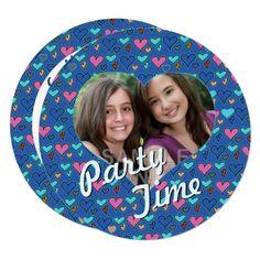 Happy Hearts 13th Twin Birthday Party Invitations - birthday gifts party celebration custom gift ideas diy