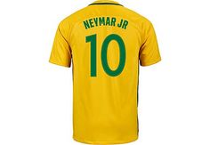 2016/17 Nike Neymar Brazil Home Jersey. Shop for it at www.soccerpro.com