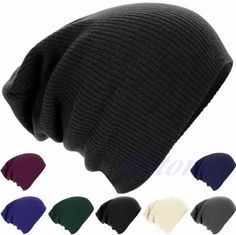 f51a7fc5d6e New Mens Ladies Knitted Woolly Winter Oversized Slouch Beanie Hat Cap  Skateboard