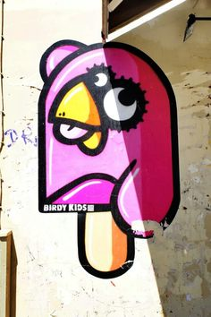 Birdy kids - street art - paris 4 - rue vieille du temple