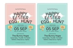 Easter Egg Hunt Flyer by The Good Store. on @creativemarket