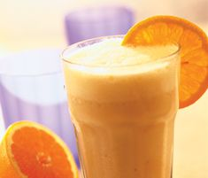Yummy!  Blend:  1 orange, peeled  1 banana  1/2 cup grapefruit juice  1 tablespoon lemon juice  1 tablespoon honey  6 oz vanilla nonfat greek yogurt  1/2 cup ice  Optional:  1 tablespoon flax seed