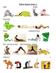 Yoga For Kids, Asana, Health Fitness, Classroom, Disney Characters, School, Animals, Class Room, Animales