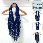 Crochet Infinity Fringe Scarf - via @Craftsy
