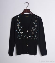 2016%202016%20Autumn%20Black%2FWhite%20Butterfly%20Sequins%20Women'S%20Cardigans%20High%20Quality%20Long%20Sleeves%20Knitted%20Women'S%20Sweaters%20101214%20From%20Michellayao123%2C%20%2438.1%20%7C%20Dhgate.Com