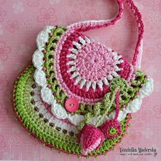 "Crochet pattern - purse ""Garden scene collection"" by VendulkaM on Etsy Bag Crochet, Crochet Purse Patterns, Crochet Shell Stitch, Crochet Handbags, Crochet Purses, Flower Patterns, Sewing Patterns, Crochet Hats, Pattern Flower"