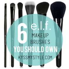 Six e.l.f. brushes you should own. I bought all of these for under $15 instead of spending $200 + on Sigma or MAC brushes.