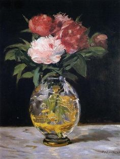 Bouquet of flowers -  Artist: Edouard Manet  Completion Date: 1882  Place of Creation: Paris, France  Style: Impressionism  Genre: still life  Technique: oil  Material: canvas  Dimensions: 56.5 x 44.5 cm  Gallery: Murauchi Art Museum, Japan  Tags: flowers-and-plants
