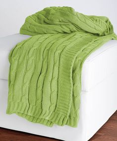 Take a look at this Lime Cable-Knit Throw by Rizzy Home on #zulily today!