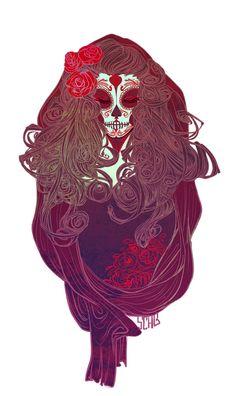 Candy Skull by Sch-G on deviantART #DíaDeLosMuertos #Girl #Hairs #MakeUp