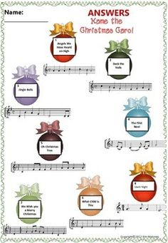 Christmas Carol Activities for your Music Class There are THREE class activities for your music class! Based on Christmas Carols! #musiceducation #MusicTeacherResources