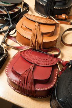 Fringe studded saddlebags at Chloé Fall 2015