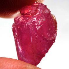 19.57 Ct. Genuine! Natural Ruby Rough Top Blood Red Madagascar Free Ship! #Gemnatural