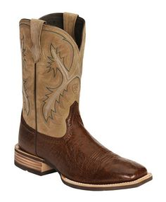 Ariat Quickdraw Smooth Ostrich Cowboy Boots - Square Toe