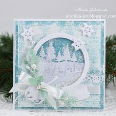 Christmas card with Marianne D dies. #mariannedesign #diecutting #cre8time #creative #inspiration #dies #white #christmas #christmascard #cardmaking #card #scrapbooking #instaartwork #instaartist #paperart #instacrafts #instaart #instaartdaily #rekodzielo #recznierobione #kartka #papercrafting