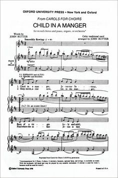 for SATB with piano or organ, or orchestra Also in Carols for Choirs 3, and 100…