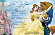 Beauty and the Beast Invitation Digital Design by inndesignstudio, $10.00