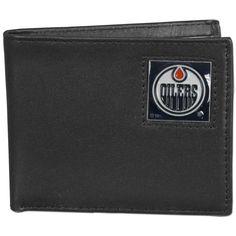 Edmonton Oilers® Leather Bi-fold Wallet Packaged in Gift Box