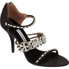 Fitzgerald Satin Open-Toe by Tabitha Simmons Old Shoes, Fancy Shoes, Open Toe Sandals, Shoes Sandals, Walking Tall, Walk In My Shoes, Tabitha Simmons, Shoe Deals, Everyday Shoes