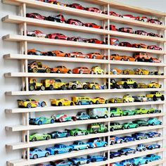 Put the brakes on Matchbox and Hot Wheels car toy clutter with the Mom! Where's my car? wall garage!