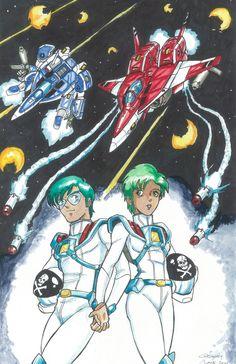 Max & Miriya Sterling - Robotech II The Sentinels - Art by Greg Lane