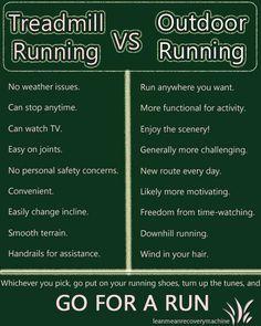Treadmill running vs outdoor running.