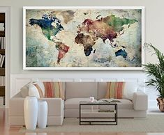 World map posterworld map wall artlarge world map art printworld large world map poster detailed world map print travel https gumiabroncs Image collections
