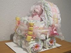 Baby Shower - How to Make Baby Diaper Cakes, Step by Step Photo Instructions