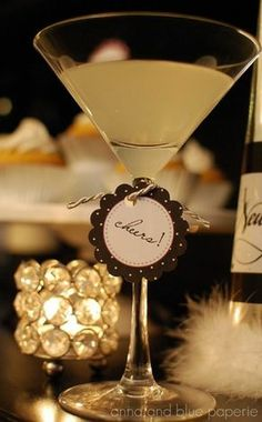 New years Eve party printables cocktail tag #Feelbeautiful # WHBM