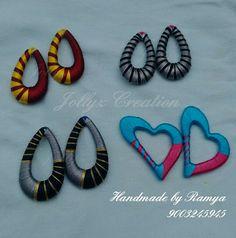 Silk Thread Earrings Designs, Silk Thread Bangles Design, Silk Thread Necklace, Thread Jewellery, Paper Jewelry, Silk Thread Jumkas, Thread Art, Teracotta Jewellery, Silk Art