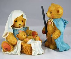 CHERISHED TEDDIES NATIVITY MARY JOSEPH JESUS JOSH MARIA BABY GOD'S GIFT LOVE-MIB