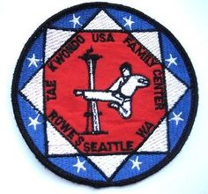 Vintage American USA Tae Kwon Do Association Martial Arts MMA Gi Patch Crest