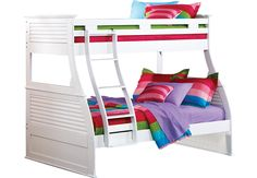 Belmar White 4 Pc Twin Full Bunk Bed.999.99. 80L x 60W x 69H. Find affordable Bunk Beds for your home that will complement the rest of your furniture. #iSofa #roomstogo