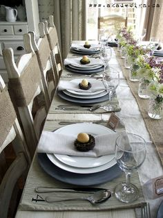 Love this barnyard style table - Five gorgeous Easter table decorating ideas - Chatelaine
