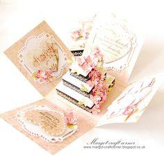 Wedding exploding card box
