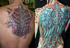 Biomechanics Tattoo - 50 images with robotic motifs and effect Cyborg Tattoo, Biomechanical Tattoo, Haut Tattoo, Tattoo Designs, Blue Slippers, Tattoo Motive, Beste Tattoo, Unique Tattoos, Cyberpunk