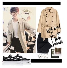 """""""V from BTS"""" by laurarico on Polyvore featuring Vans, WALL, Impossible Project, coat, DNA, bts and taehyung"""