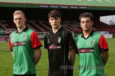Glentoran FC 2013/14 Kukri Home and Away Kits