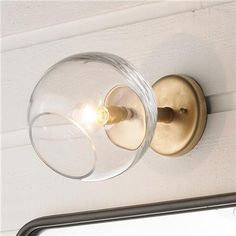 Young House Love Wonky Glass Wall Sconce