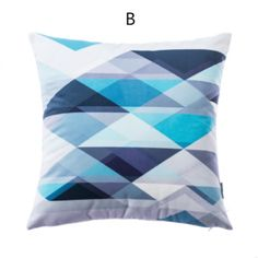 Blue Geometric throw pillow creative home decoration cushions 18 in