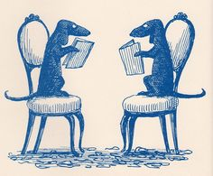 "For my fellow Dachsaholic Bibliophiles... Artist Edward Gorey from the book ""You Read to Me, I'll Read to You"" by John Ciardi, copyright 1962. I so wish I could get a print of this to frame!"