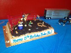 5th birthday cake Bucking bull rodeo theme