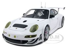 2009 Porsche 911 (997) GT3 RSR Plain Body Version White Diecast Car Model 1/18 by Autoart $123.25