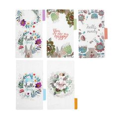Spiral Loose Leaf Notebook's Page Index Divider, Hello Spring Transparent Frosted PP Binder Index, Notebook Dividers, Planner Dividers, Filofax Personal, School Stationery, Hello Spring, Office And School Supplies, Bunt, Kawaii, The Originals